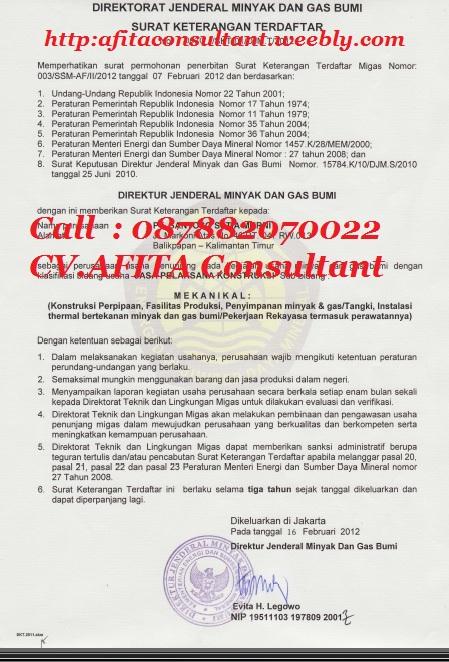 Copy of CONTOH SKT MIGAS CV AFITA