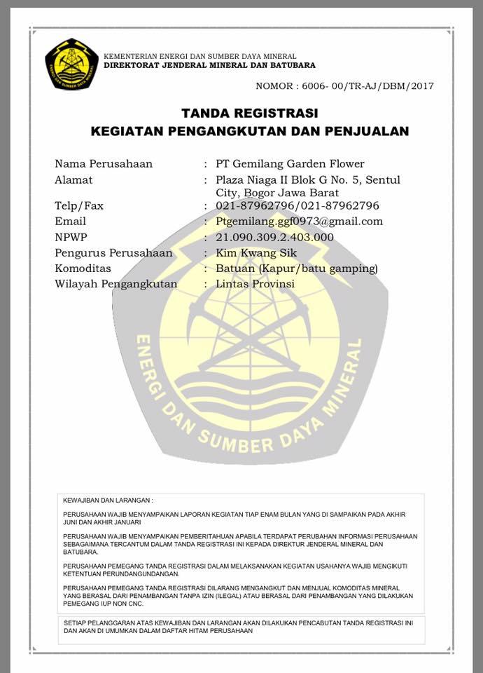 tanda registrasi